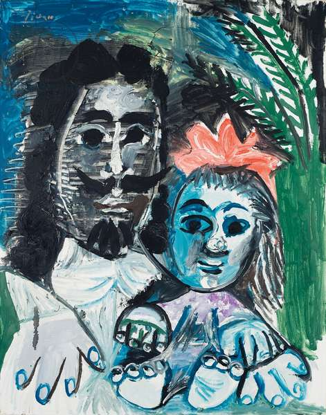Musketeer and girl, 1967 (oil on canvas)