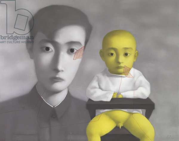 Bloodline: Big Family - Father and Son, 2001 (oil on canvas)