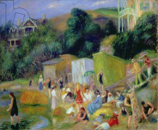 Beach at Annisquam, 1918 (oil on canvas)