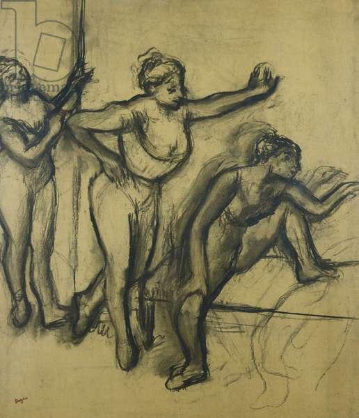 Three Dancers in Leotards; Trois Danseuses en Maillot, 1903 (charcoal on paper)