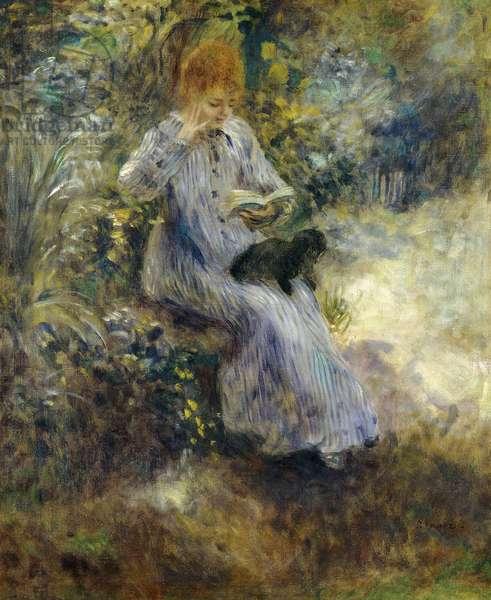 Woman and Black Dog; Femme au Chien Noir, 1874 (oil on canvas)