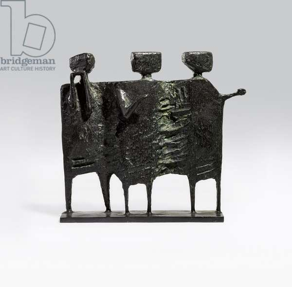 The Visitors, 1961 (bronze with a black patina)