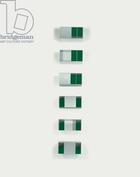Untitled, 1988 (88-27 MENZIKEN), 1988 (anodized aluminium and green Plexiglas)
