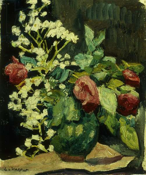 Vase de Roses, 1931 (oil on canvas)
