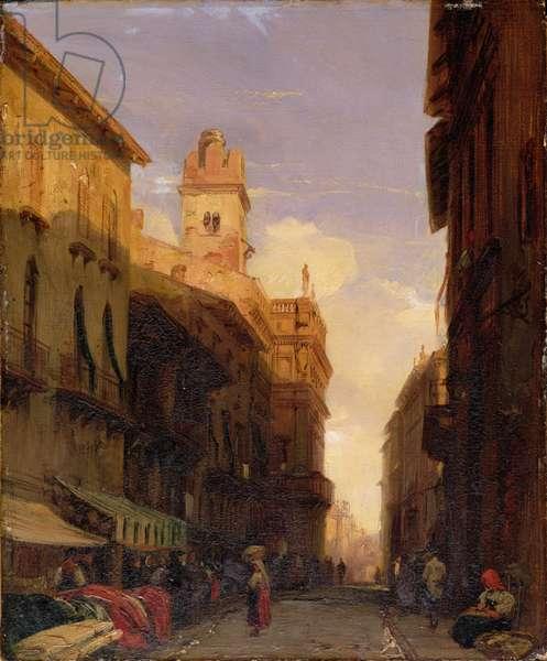 View of Prince Maffei's Palace, Verona, c.1826-27 (oil on canvas)