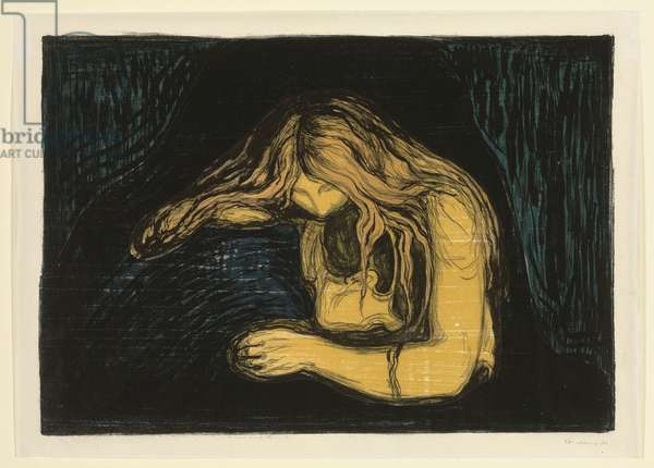 Vampire II, c. 1895-1902 (lithograph and woodcut in colours)
