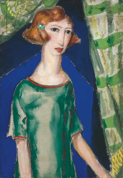 Young Woman, c.1920-25 (gouache on silk laid down on board)