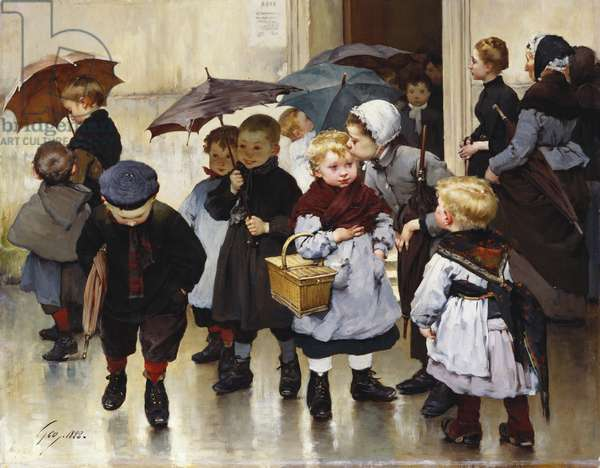 Leaving the Class, 1888 (oil on canvas)