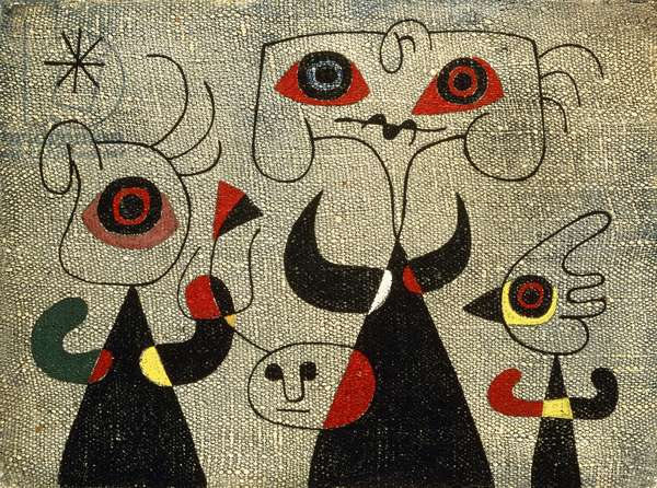 Women and Bird in the Night, 1946 (oil on canvas)