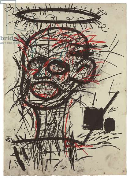 Untitled, 1982 (oil stick & ink on paper)