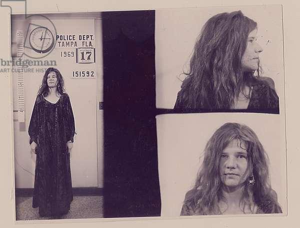 Mugshots of Janis Joplin, 1969 (b/w photo)