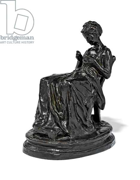La Brodeuse, late 19th - early 20th century (bronze)