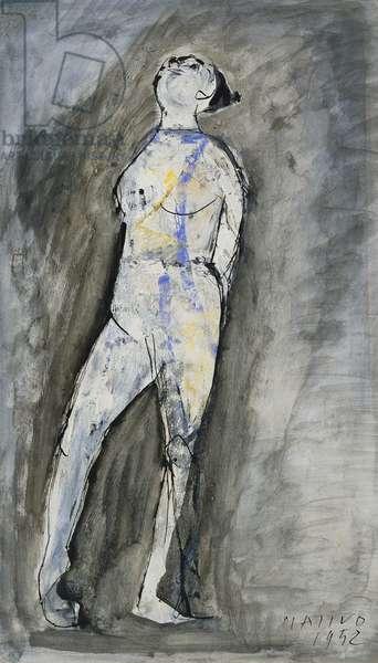 Danzatrice, 1952 (gouache on paper)