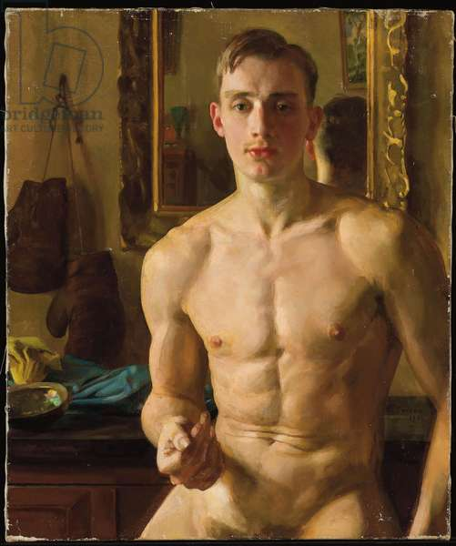 The Boxer, 1933 (oil on canvas)