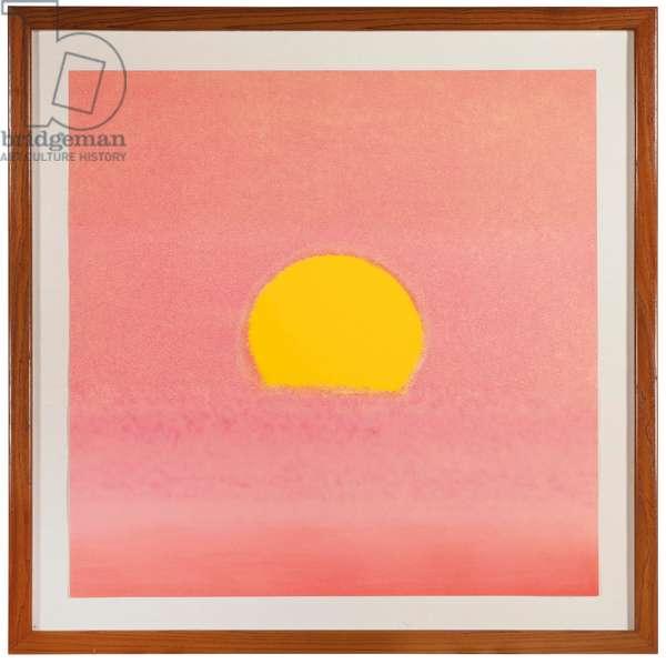 Sunset, 1972 (screenprint)