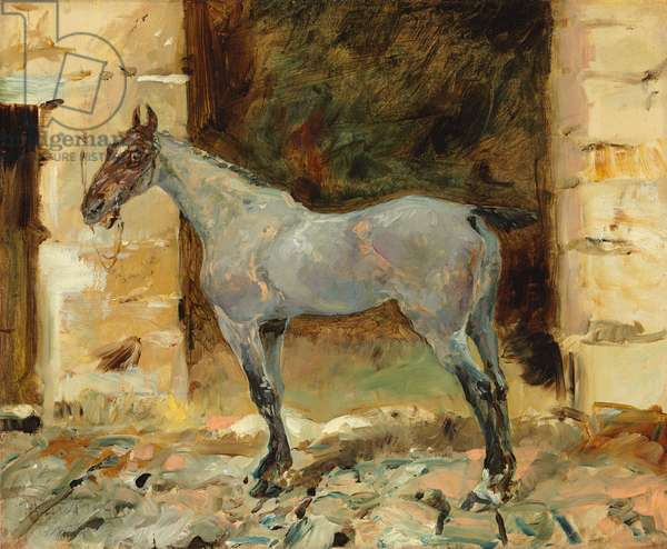 Tethered Horse; Cheval attache, c.1881 (oil on canvas)