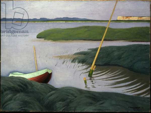 Boat at Berville, 1918 (oil on canvas)