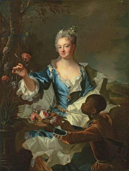 Portrait of Hyacinthe-Sophie de Beschanel-Nointel, Marquise de Louville (oil on canvas)