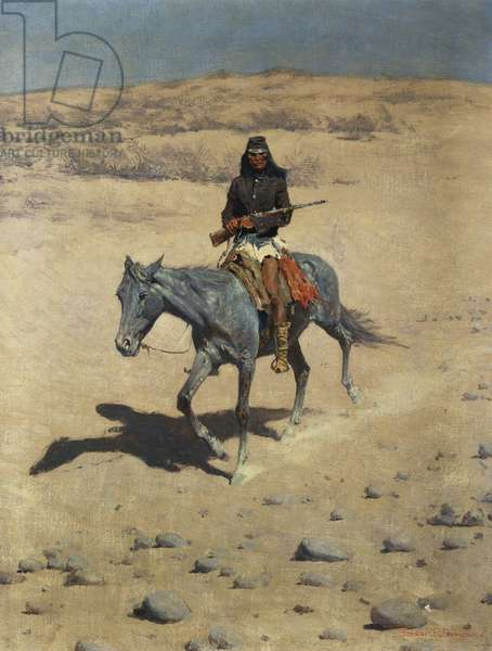 Apache Scout (oil on canvas)