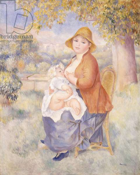 Mother and Child, Maternity, 1886 (oil on canvas)