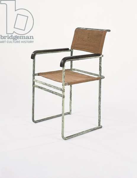 B11 armchair, for Thonet, 1926-27 (tubular steel, wood & canvas)