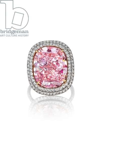 Ring (pink diamond, diamonds, platinum & gold)