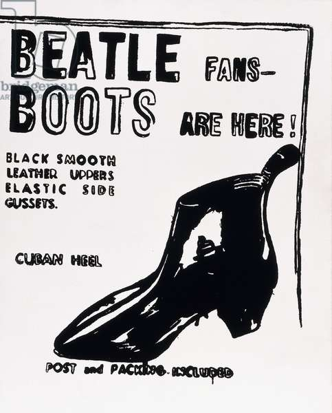 Beatle Boots, 1986 (synthetic polymer and silkscreen inks on canvas)