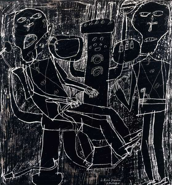 Dentist, 1947 (gesso and ink on paper)