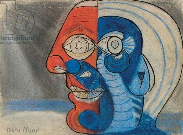 Portrait of Pablo Picasso, c.1938 (pastel & ink on paper)