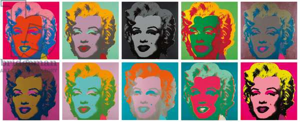 Marilyn Monroe (Marilyn), 1967 (screenprint) (see also 1219874-82)