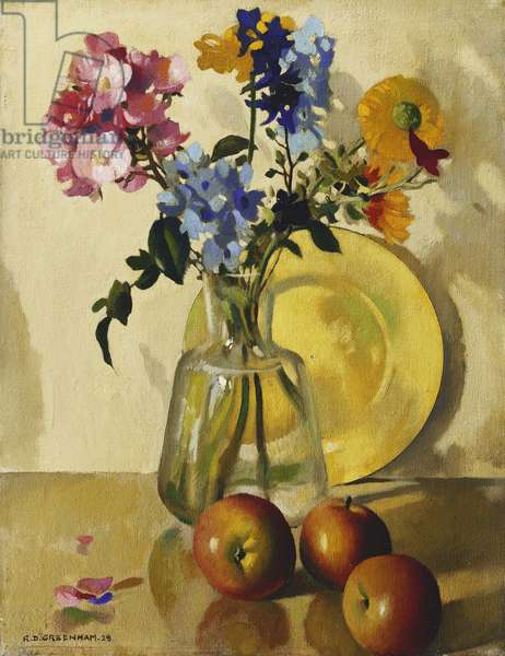 Flowers and Apples, No 2, 1928 (oil on canvas)