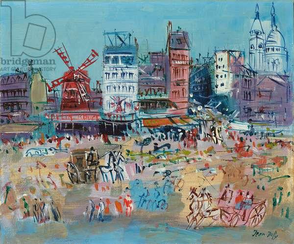 Montmartre, Le Moulin Rouge, c.1950-1952 (oil on canvas)