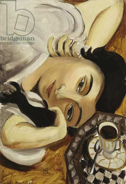 Lorette with a Cup of Coffee, 1916-17 (oil on canvas)