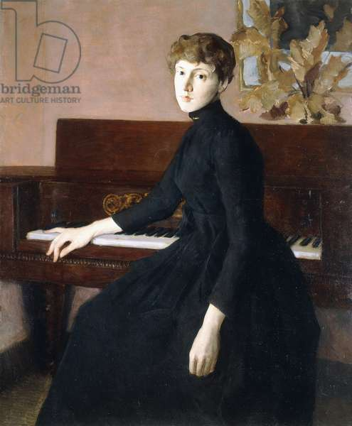 At the Piano,  (oil on canvas)