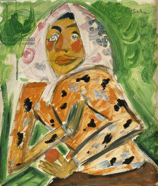 Peasant Woman, half length; Brustbild Einer Bauerin, (oil on board)