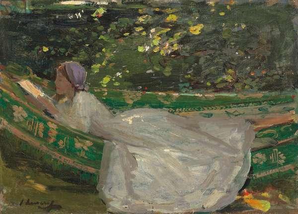 The Green Hammock, c. 1905 (oil on  canvas-board)