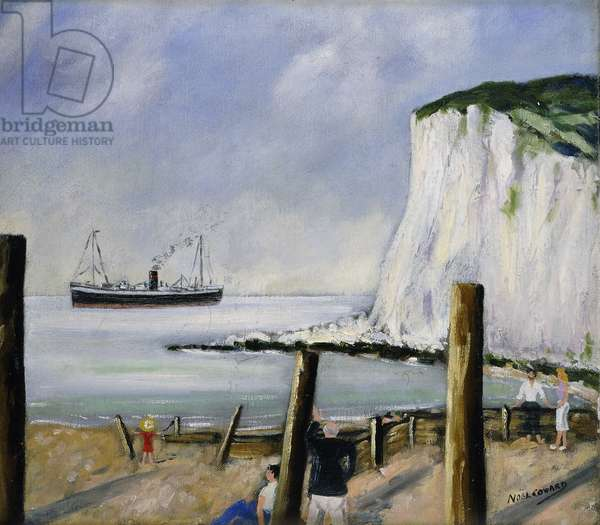 The White Cliffs of Dover, (oil on canvas)