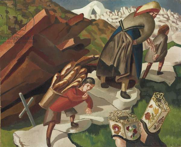 Avalanche, Switzerland, 1936 (oil on canvas)