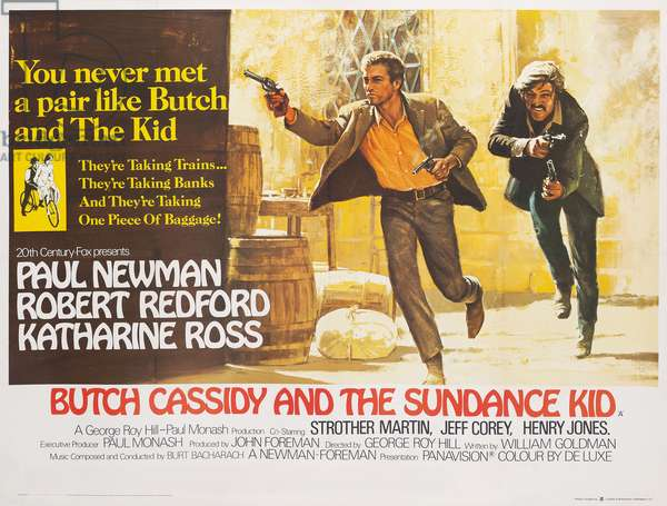 British poster for the film 'Butch Cassidy and the Sundance Kid' (1969), 1969 (colour litho)