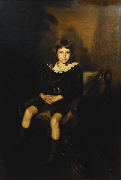 Portrait of a Boy seated full length in a Chair, (oil on canvas)