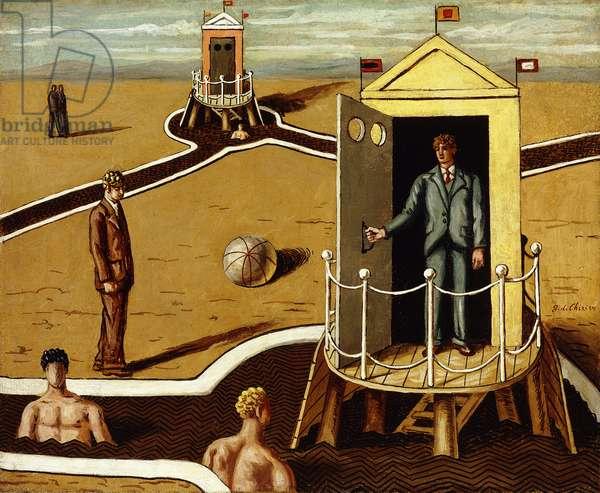 Visit to the Mysterious Baths; Visita al Bagni Misteriosi, 1935 (oil on canvas)
