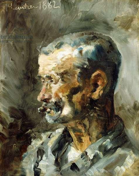 A worker at Ceyleran, 1882 (oil on canvas)