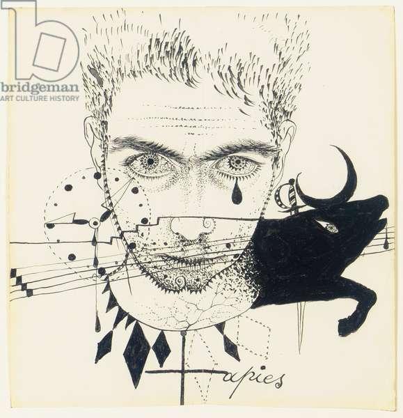 Self-Portrait, 1950 (ink on paper)
