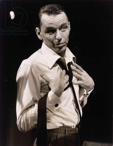 Frank Sinatra, 1957 (b/w photo)