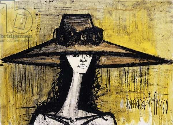 Woman with Hat; Femme au Chapeau, 1960 (oil on canvas)