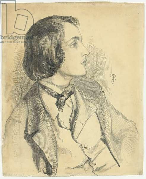 Portrait of William Michael Rossetti,  (pencil on paper)