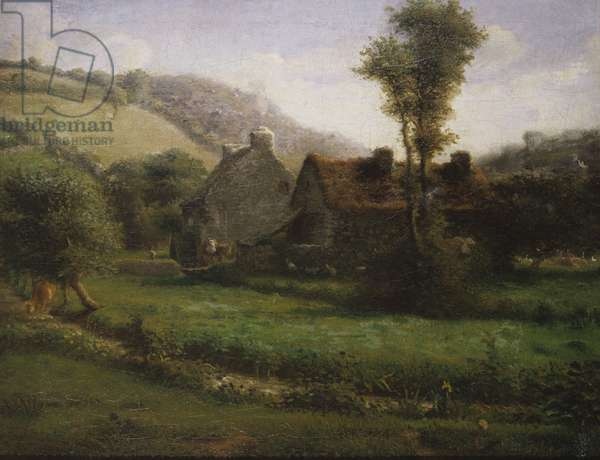 Cottage in a Landscape, c.1871 (oil on canvas)