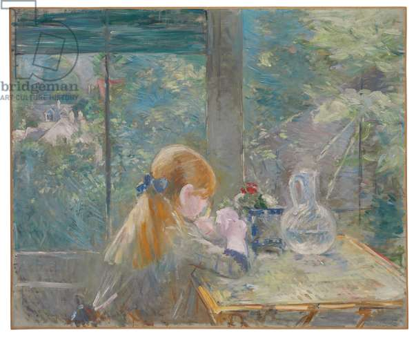 Dans la véranda, 1884 (oil on canvas)