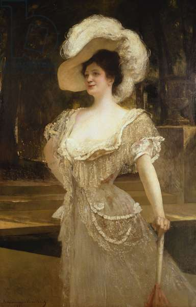 A Portrait of Mrs, 1901 (oil on canvas)