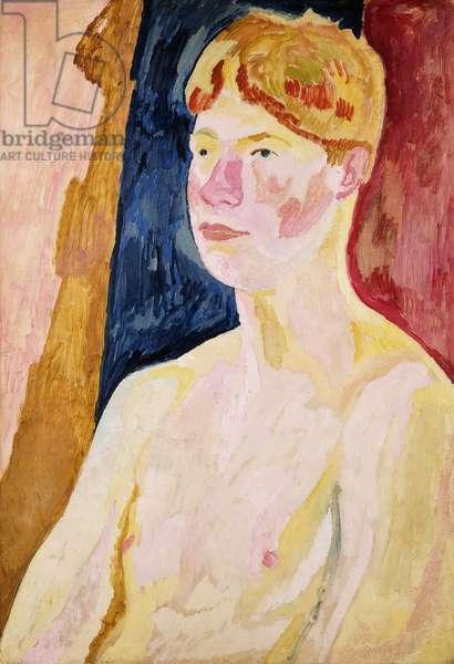 Portrait of David Garnett, 1915 (oil and gouache on board)